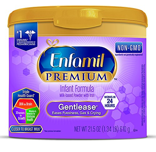 Enfamil PREMIUM Gentlease, Milk-Based Formula, for Fussiness, Gas, and Crying, Powder, 21.5 oz Tub by Enfamil