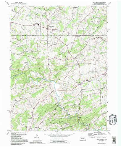 Fawn Grove PA topo map, 1:24000 scale, 7.5 X 7.5 Minute, Historical, 1992, updated 1995, 26.8 x 22 IN - - Park City Grove Pa