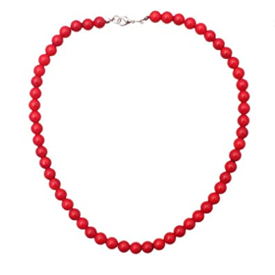 code promo c0cff cd053 Mineral Collier de 45 cm composé de Corail rouge en perle de 8mm