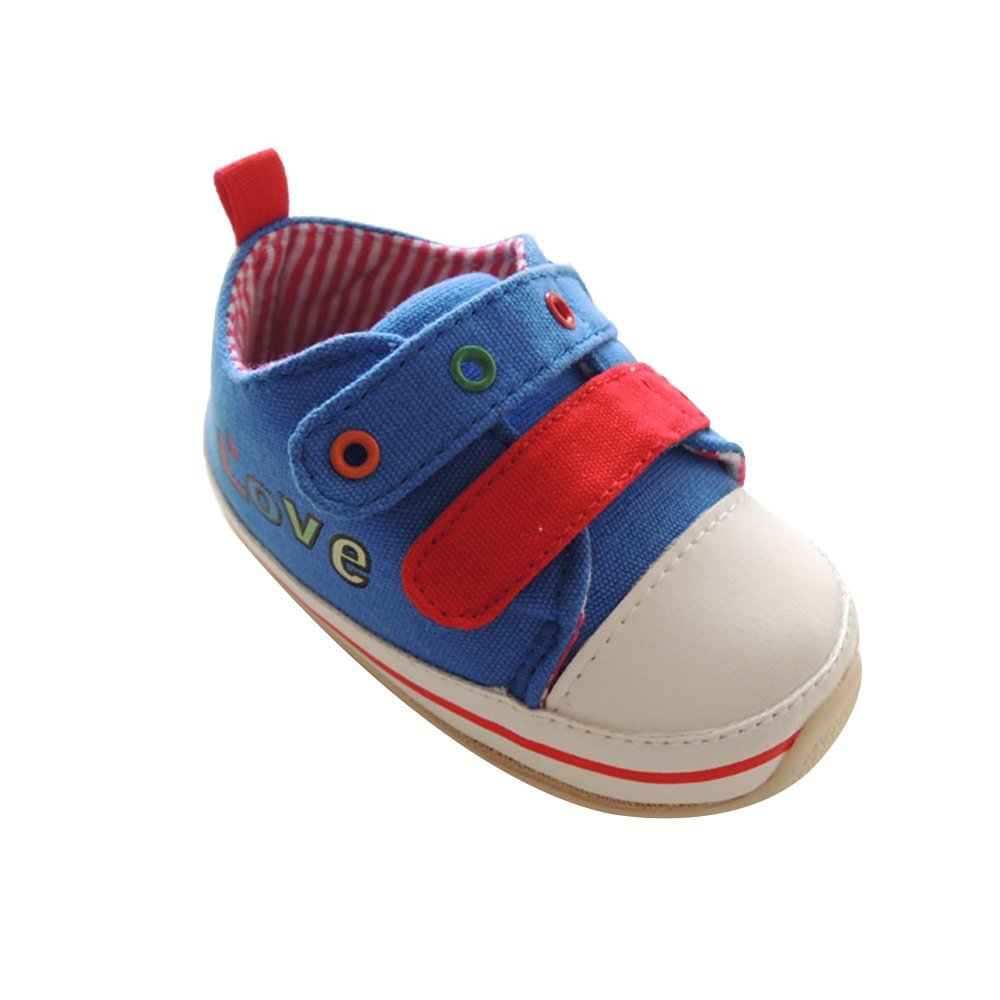 Kuner Baby Boys and Girls Cotton Rubber Sloe Outdoor Sneaker First Walkers Shoes (14.5cm(18-24months), Love)