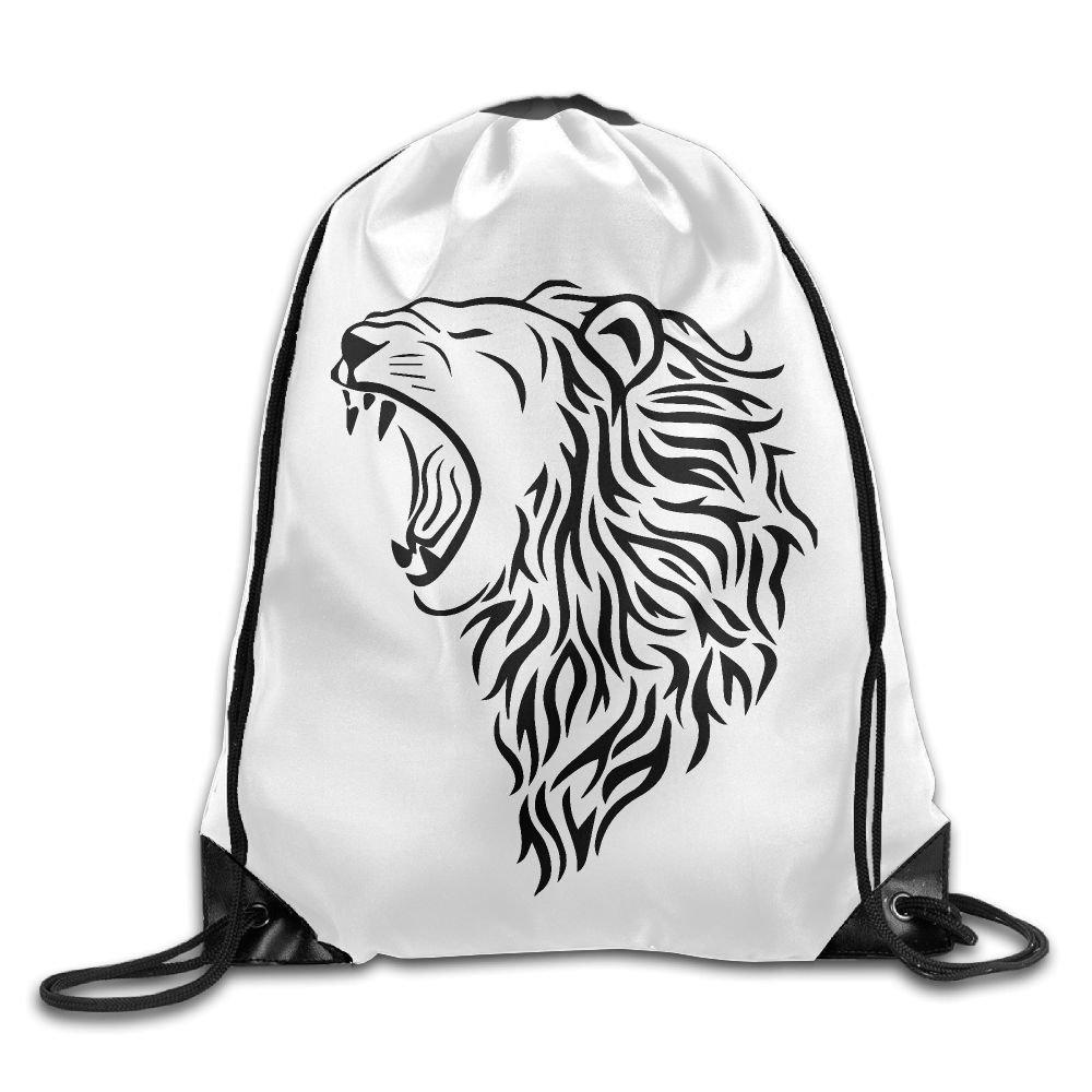 VIMUCIS Lion Drawstring Backpack Rucksack Shoulder Bags Training Gym Sack For Man And Women