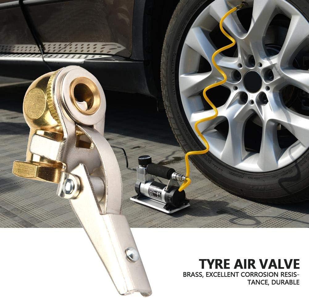 no-Clip with Clip//No-Clip Copper Tyre Air Valve Tire Inflator Valve Air Chuck Suitable for Car//Motor//Electromible 1//4 Tyre Valve