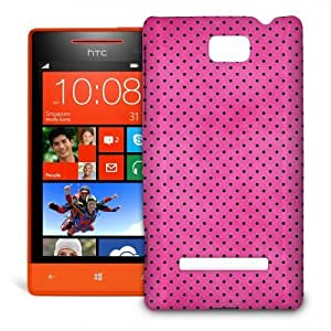 Phone Case For HTC 8S - Hot Pink Polka Dots Snap-On Slim