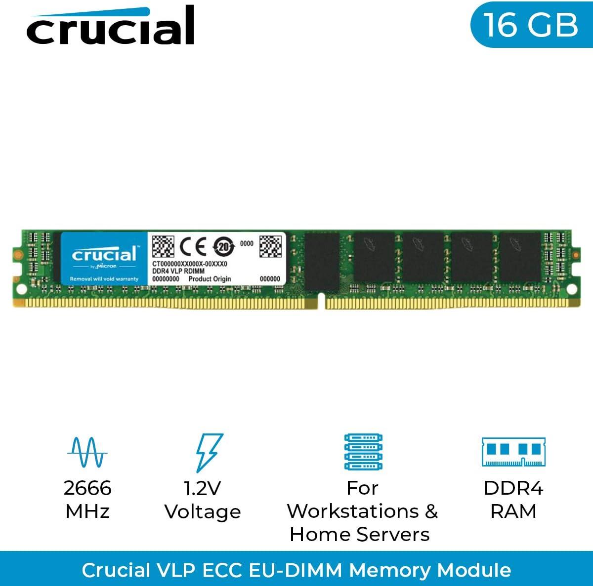 A-Tech 8GB Module for Intel Xeon E5-2648LV4 AT360693SRV-X1R14 DDR4 PC4-21300 2666Mhz ECC Registered RDIMM 2rx8 Server Memory Ram
