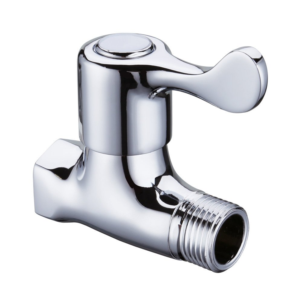 Weirun Bathroom Brass Quarter Turn Straight/Stop/Check Shut-off Water Valve 1/2¡± IPS Female and Male Connection Ceramic Disc Cartridge, Polished Chrome