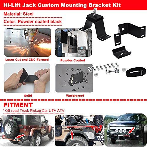 For Hi-Lift Jack Custom Mounting Bracket Kit Fits Off-road Truck Pickup Car UTV ATV by XJMOTO (Image #1)