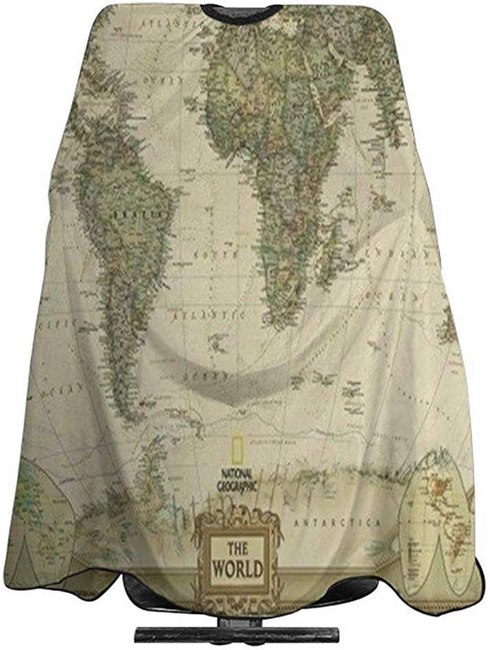 Capa De Peluquería Para Mapa Del Mundo Antiguo Corte De Pelo ...