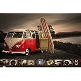 Empire 405326 - Póster con diseño de furgoneta de Volkswagen y tabla de surf (91,5 x 61 cm)