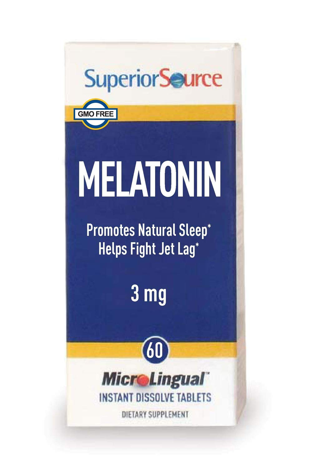 Superior Source Melatonin with Camomile Nutritional Supplements, 3mg, 60 Count