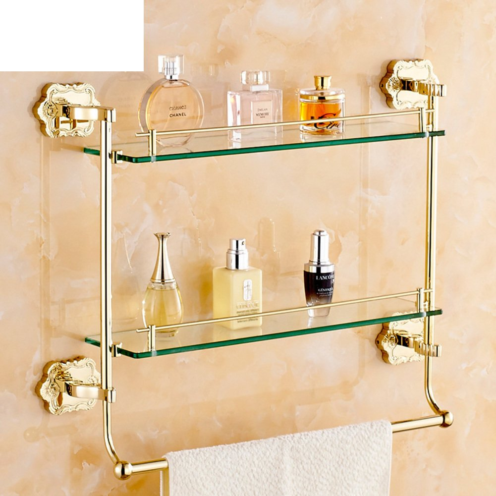 Bathroom double rack/European-style dressing table/Bathroom hardware accessories/Towel shelf -E free shipping