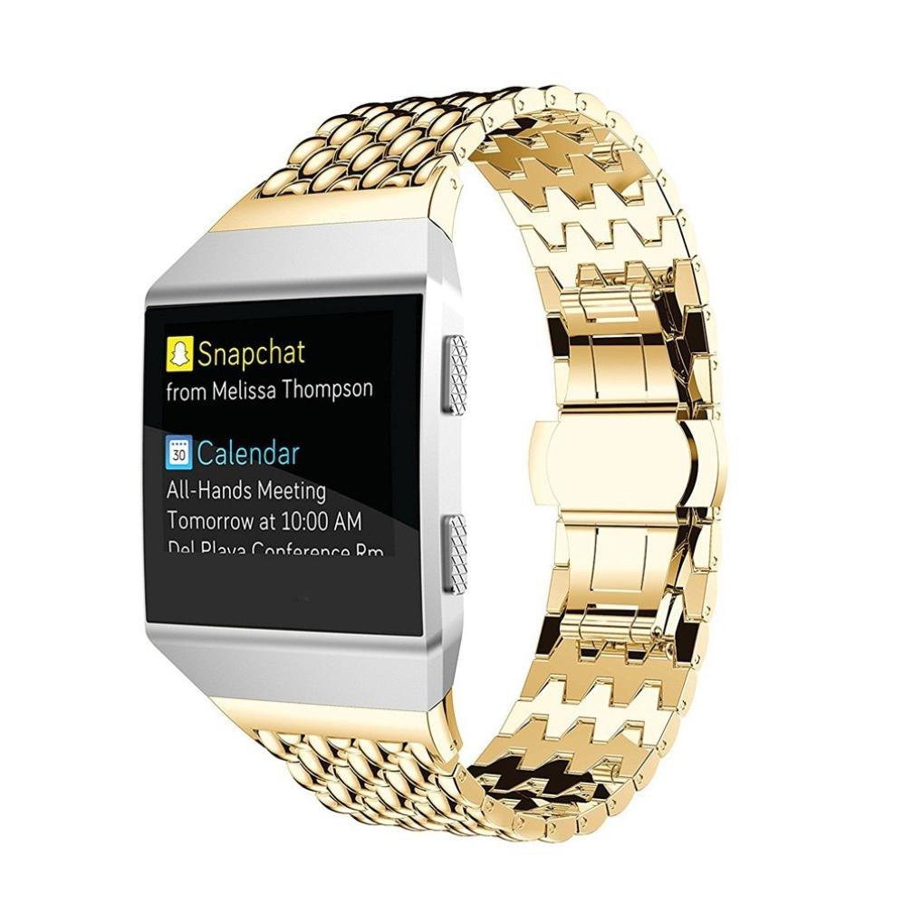 For Fitbit Ionic時計バンド、ファッション豪華ステンレススチールモダンアクセサリー交換用ストラップ腕時計バンドリストバンドfor Fitbit Ionic Smart Watch ゴールド ゴールド B076CC8BHH