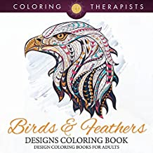 Birds & Feathers Designs Coloring Book - Design Coloring Books For Adults (Birds Designs and Art Book Series)