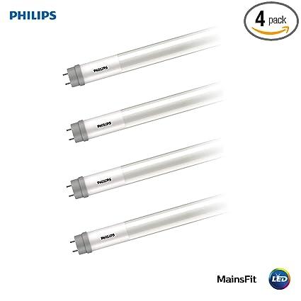 philips led 538389 ballast bypass 4-foot t8 tube glass bulb: 1800-lumen