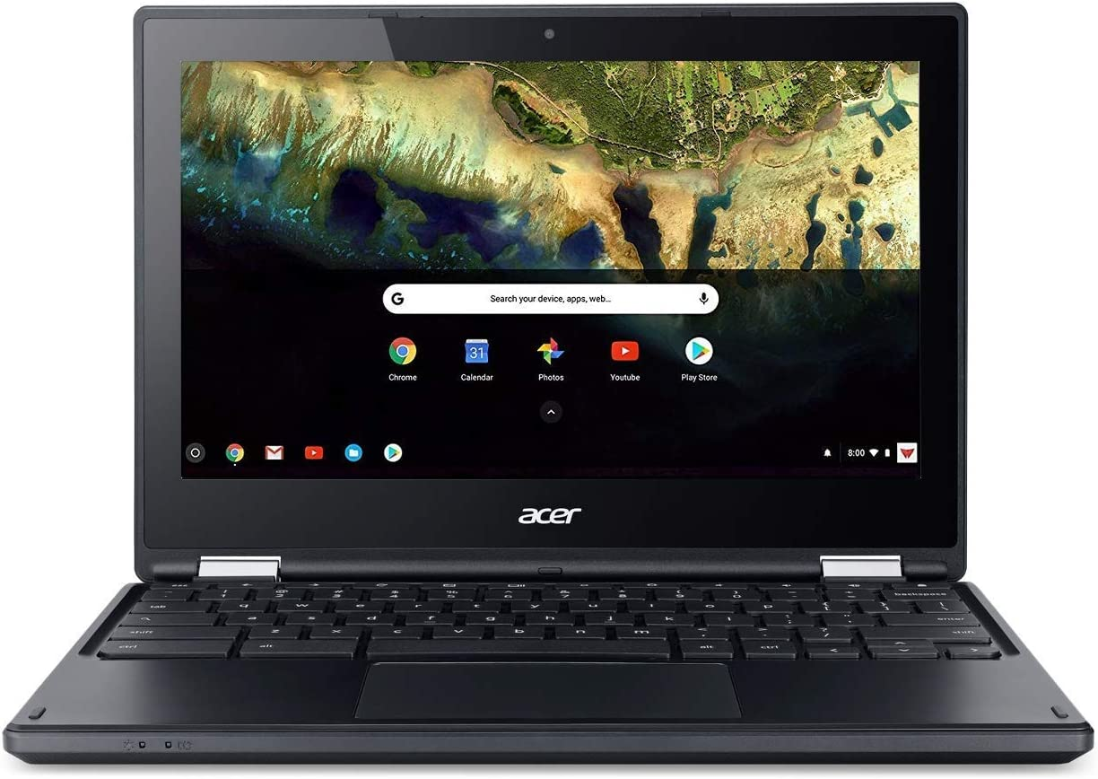 Acer Chromebook R 11.6 in HD Multi-Touch Screen Convertible Laptop, Webcam, Intel Celeron N3060, 4GB RAM, 32GB eMMC SSD, Google Chrome OS (Black Color), 11-11.99 inches