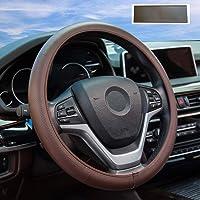 DYBANP Couvre Volant en Cuir Noir pour BMW Sport M F30 F31 F34 F10 F11 F07 X3 F25 F32 F33 F36 X1 F48 X2 F39-Fil Rouge