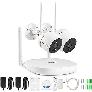 ANNKE Mini Kit sistema de vigilancia wifi 1080P FHD 4CH NVR con 2 * IP cámaras