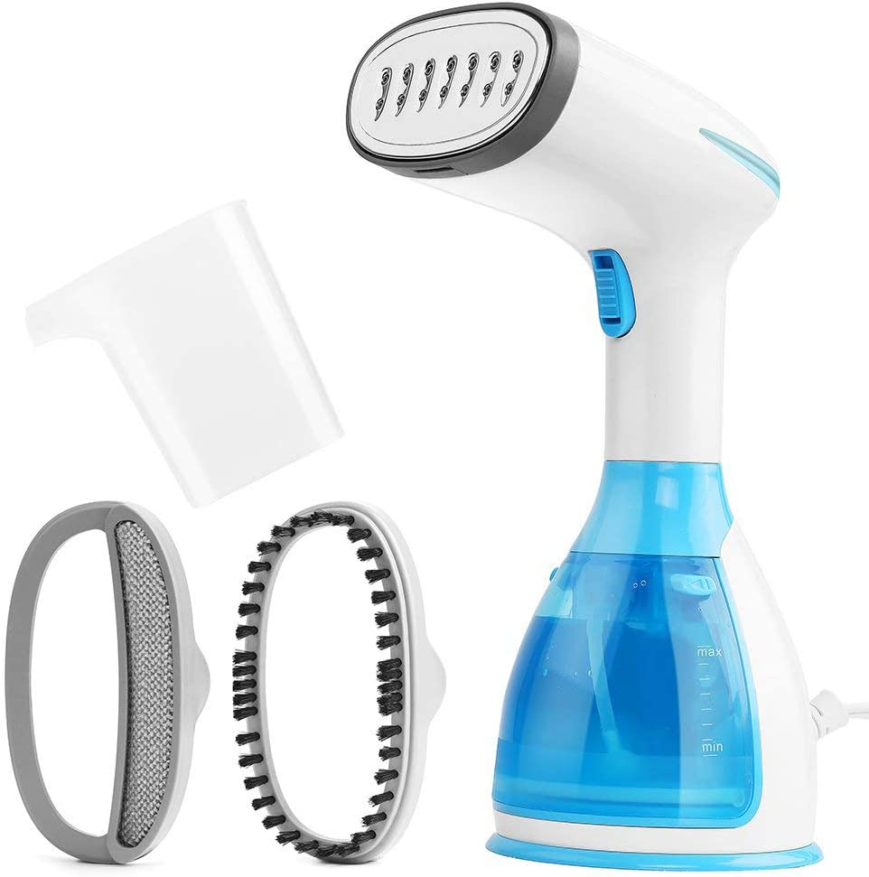OMLTER Handheld Garment Steamer Mini Portable Travel Garment Steamer for Clothes Fast Heat Fabric Wrinkle Iron Steamer with Large 290ml Water Tank Capacity and Anti-Leakage Design