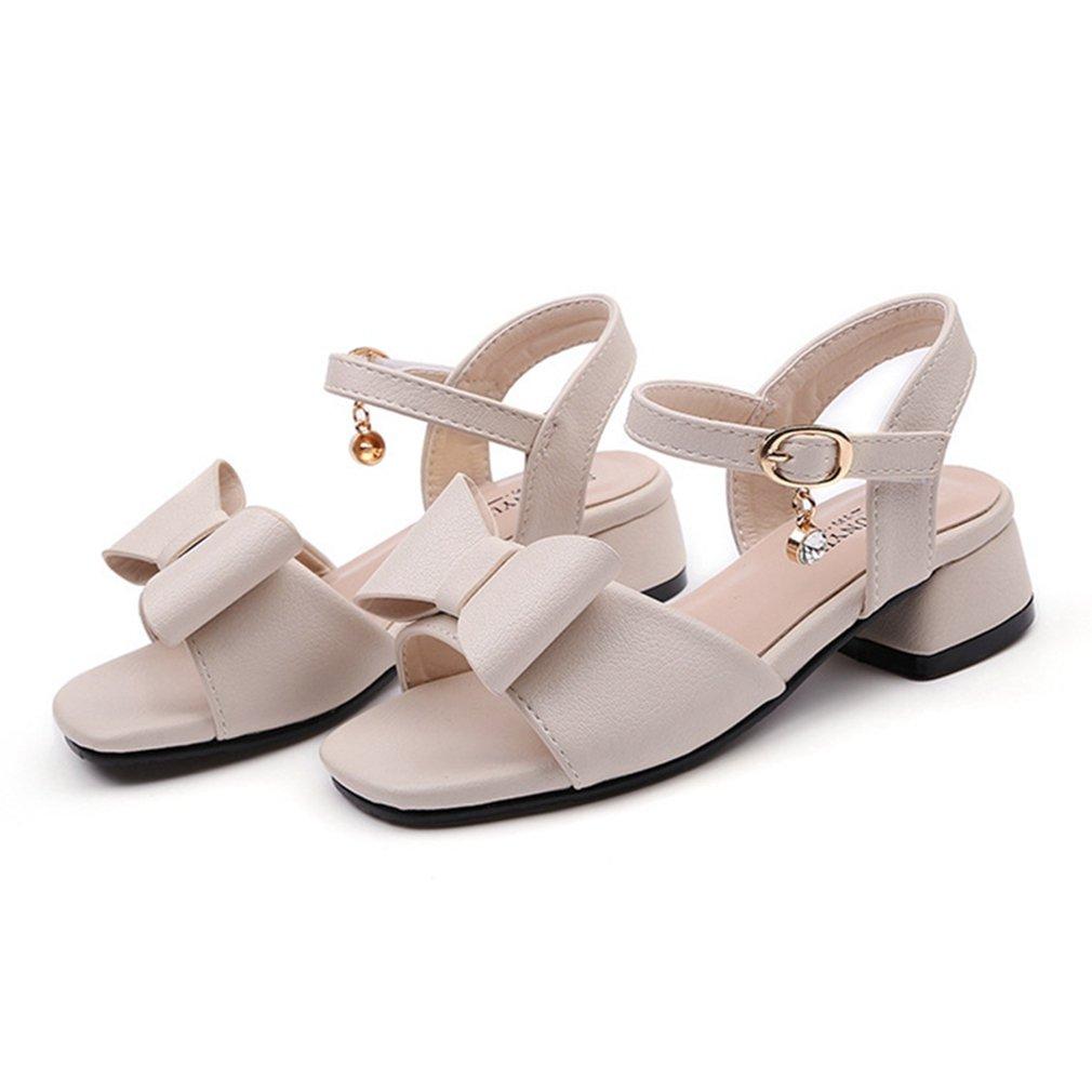 043247641799e Amazon.com   CYBLING Kids Dress Shoes Girls Low Heels Sandals Bow ...