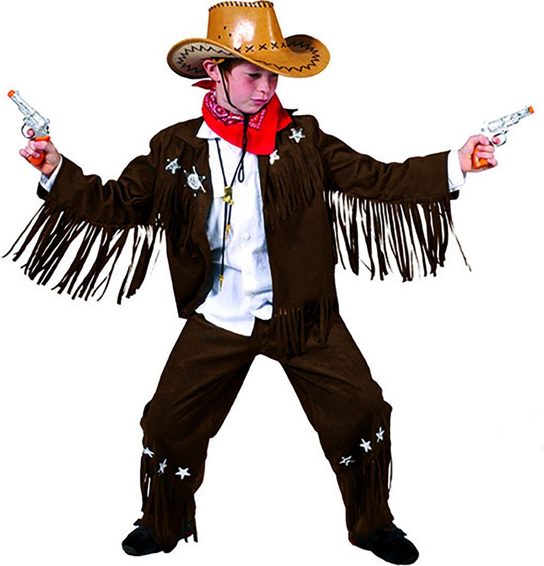 chamboolee - Disfraz de vaquero con flecos las mangas para joven ...