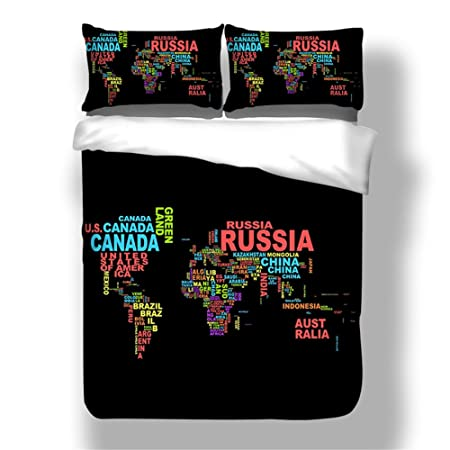 Shamdon black world map design very soft fabric duvet cover set shamdon black world map design very soft fabric duvet cover set bedding sets include duvet cover gumiabroncs Image collections