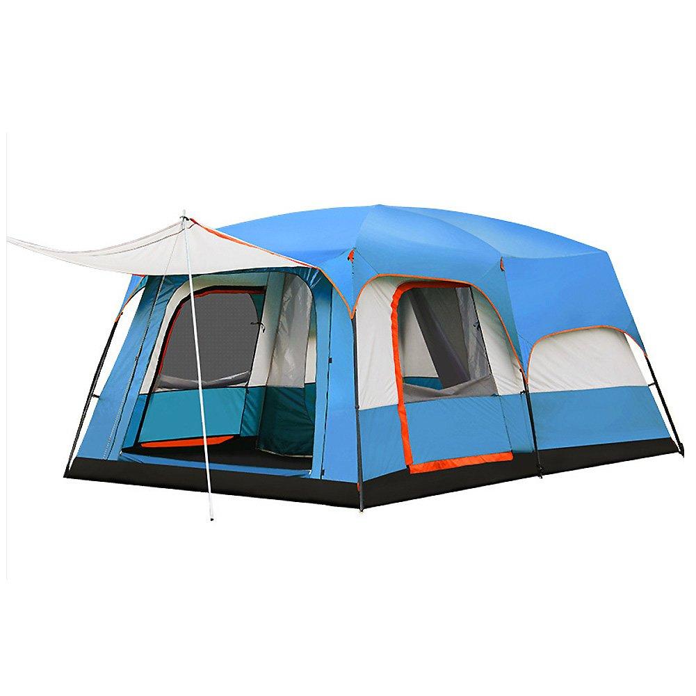 Campingzelt, Kuppelzelte Double-layer Zwei Schlafzimmer 8  10 Personen Familienzelt Fiberglas Mit Großen Öffnungen Water Resistant Outdoor Camping Ausflug