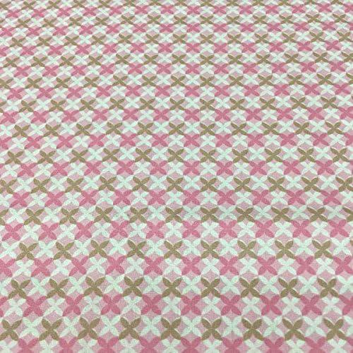Tela por metros - 100% algodón - 150 cm ancho - Largo a elección de 50 en 50 cm - Ropa y accesorios de bebé | Geométrico - Rosa, marrón, blanco: Amazon.es: Hogar