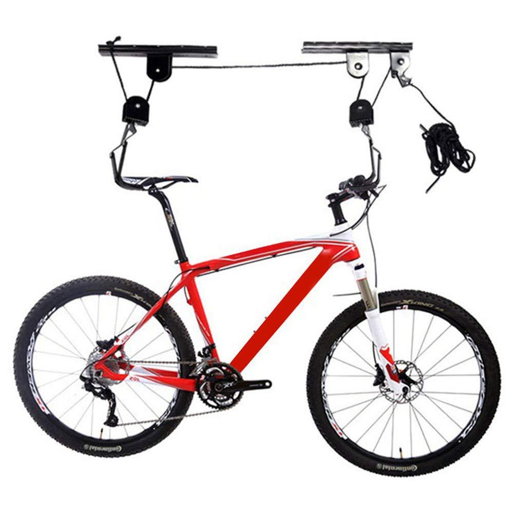 CARACHOME Bicycle Ceiling Hanging Storage,Bike Lifter,Bike Hook Holder Storage Rack for Indoor Storage,Max Load 20Kg for Each Rack