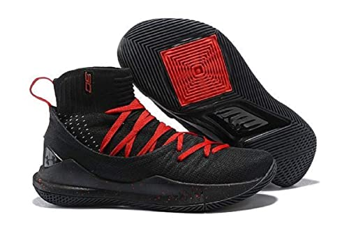 036473a7129 UnderArmour UA Curry 5 Black-Red Men s Basketball Shoes (9 UK)  Buy ...