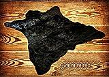 Fur Accents Classic Black Bear Skin Accent Rug Plush Faux Fur 8′