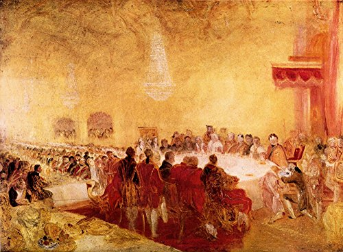 The Museum Outlet - George IV at banquet in Edinburgh by Joseph Mallord Turner, Stretched Canvas Gallery Wrapped. - Outlet Edinburgh In