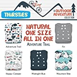 Thirsties Package, Snap Natural One Size All In One, Outdoor Adventure Collection Adventure Trail
