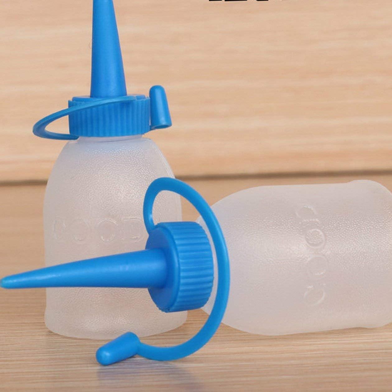 30ml Bouteille en plastique /épaissie Colle Pointe de bouteille dhuile Graisseur Bouteille deau pour applicateur de sortie dhuile Bouteille de pr/écision Bouteille de pr/écision couleur: blanc