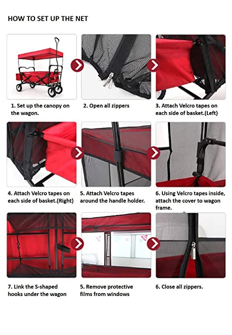 Amazon.com: Mosquito Net for Kids Wagon Cover Fits EasyGo Wagon Insect Netting for baby: Toys & Games