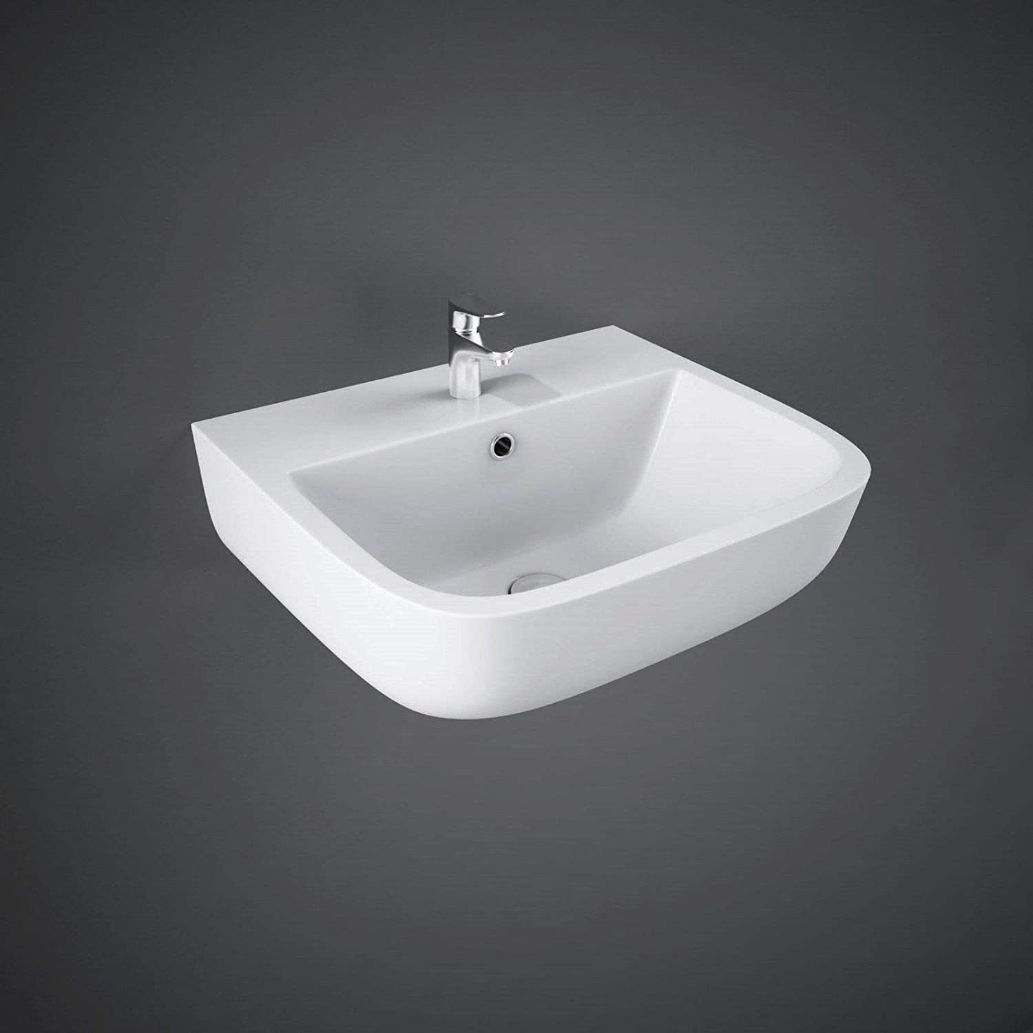 RAK Series 600 Basin 400mm Wide Clockroom Wall Hung Basin 1 Tap Hole Basin Rak