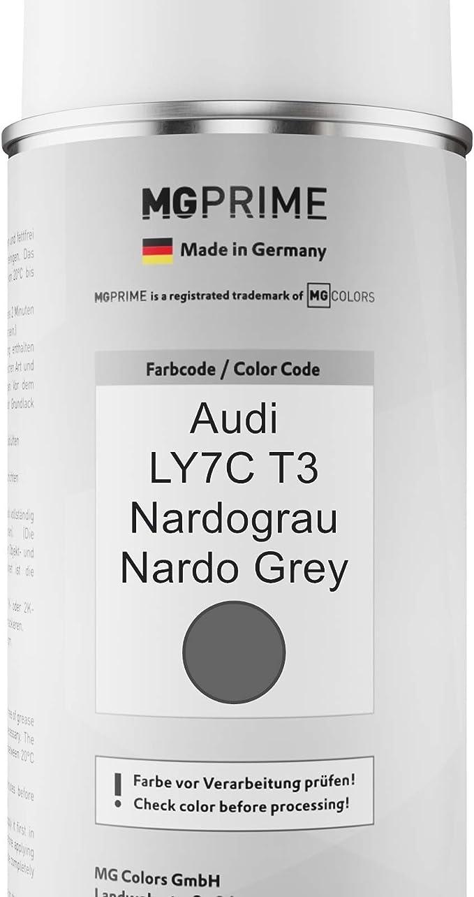 Mg Prime Autolack Sprühdosen Set Für Audi Ly7c T3 Nardograu Nardo Grey Basislack Klarlack Spraydose 400ml Auto