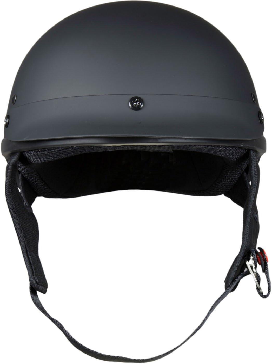 Gloss Black, X-Large Raider Unisex-Adult Motorcycle Half Helmet