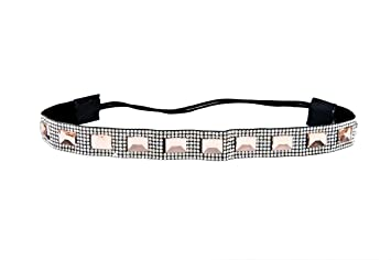 Amazon.com   Thick Custom Color Shimmering Bling Crystal Rhinestone Jewel  Elastic Headbands (Style D)   Beauty 872106eaa30