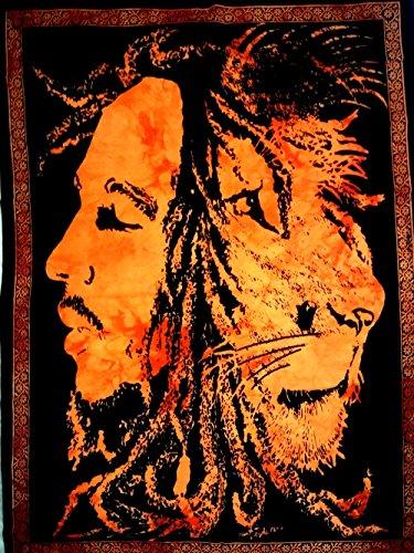 ICC Bob Marley Lion Face Poster 30x40In Hippie Bob Marley Bohemian Poster , Christmas Decoration,Christmas Poster For Windows, Christmas gift, Bob Marley Tapestry Wall Hanging, Bob Marley Dorm - Bob Hangings Wall Marley