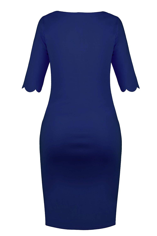 Molliya Damen Umstandskleid Schwangere R/üsche Aus Mutterschaft Gerafften Elegentes Kleid Knielang