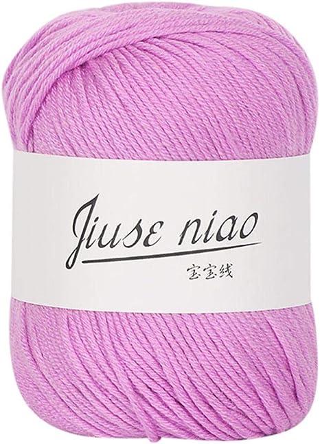 Sukeq - Lana de algodón para tejer, lana de ganchillo, lana súper ...