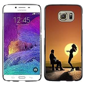 TopCaseStore / la caja del caucho duro de la cubierta de protección de la piel - Sunset Dance Music Art Mountain View - Samsung Galaxy S6 SM-G920