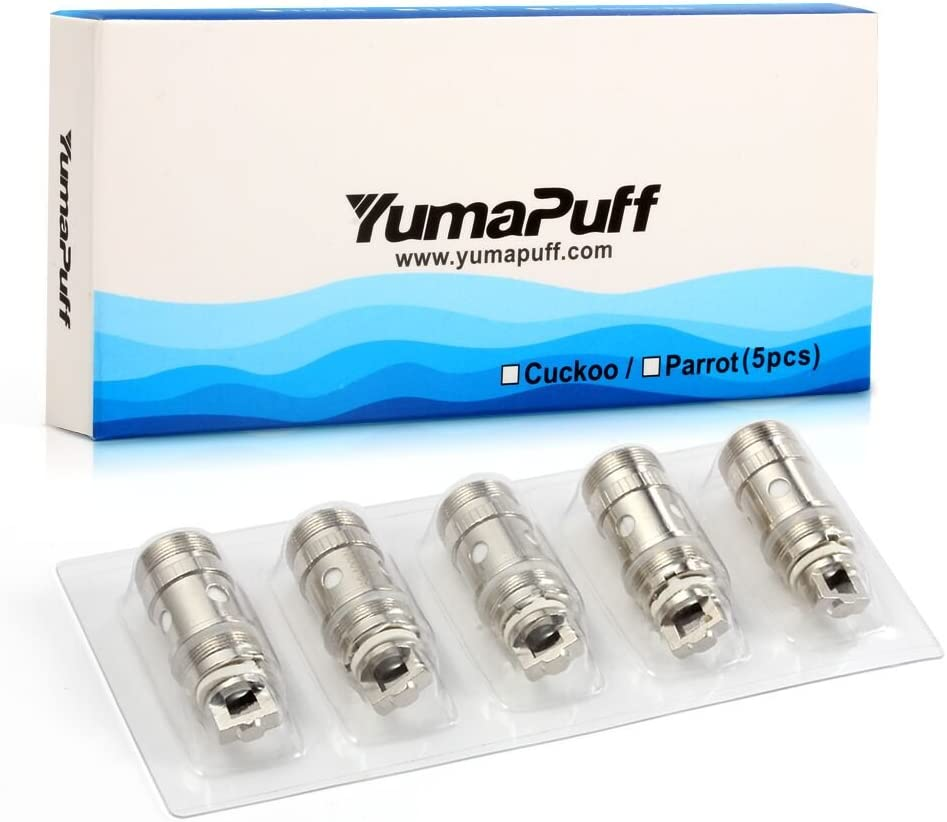 5 PCS Cuckoo Vape Kit 50W Bobinas De repuesto,YumaPuff 0.5 Ohm ...