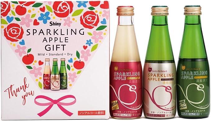 青森りんごジュース シャイニー スパークリングアップル 詰合せ 3種×各1本 SP-D