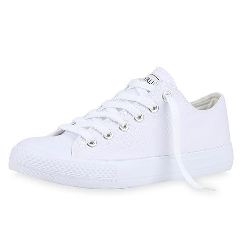 Trendige Unisex Sneakers | Low-Cut Modell | Basic Freizeit Schuhe | Viele Farben | Gr. 36-45