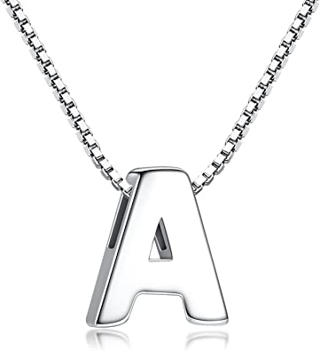 collier argent initiale