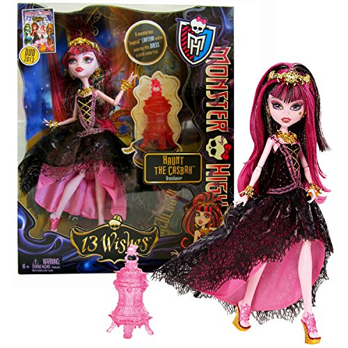 (MH Year 2012 Monster High 13 Wishes Haunt The Casbah Series 11 Inch Doll Set - Draculaura with Red Lantern, Hairbrush and Display)