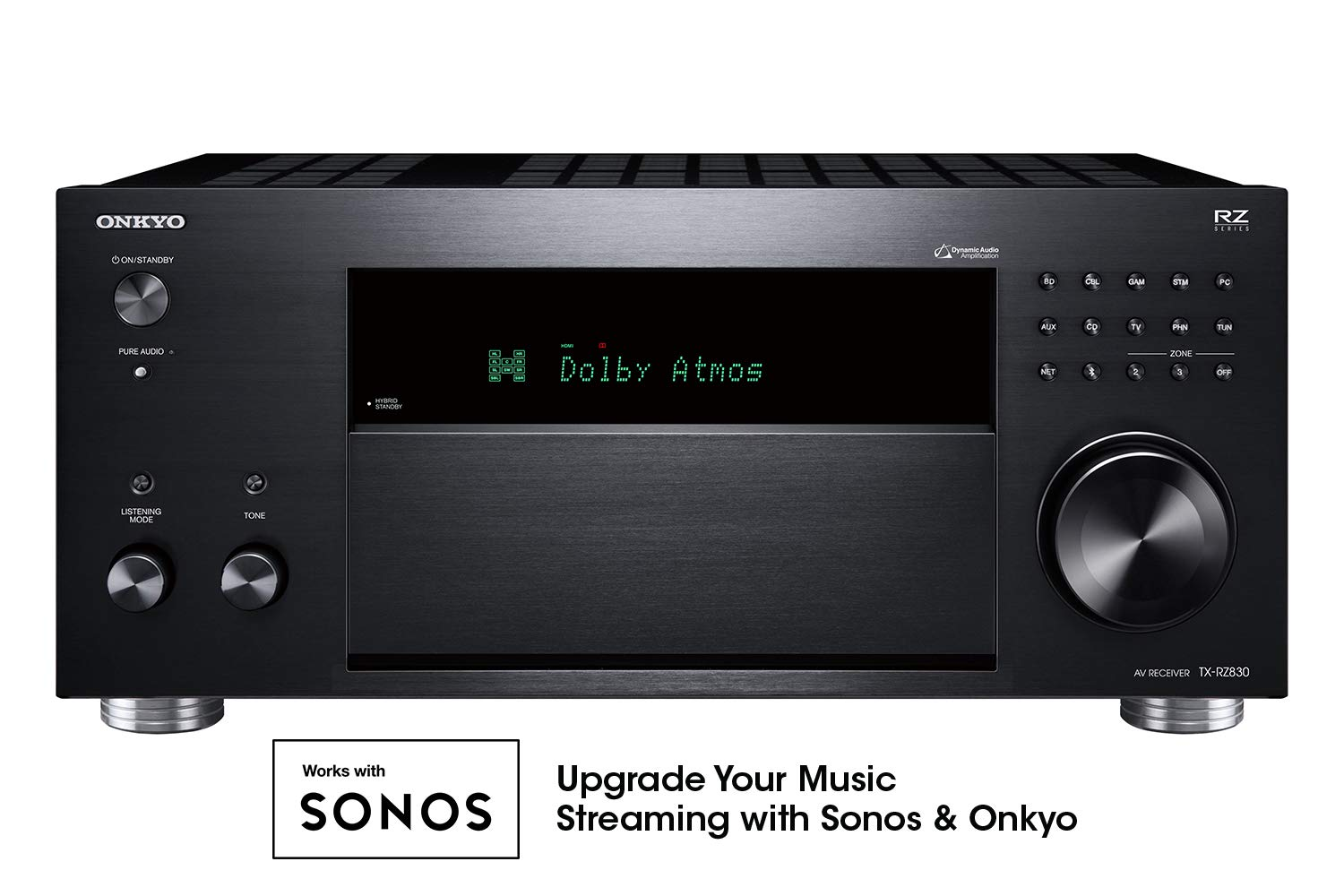 Onkyo TX-RZ830 9.2 Channel 4K Network A/V Receiver Black by Onkyo (Image #1)