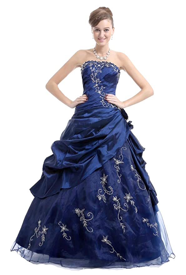 3c02dec6ef0 Faironly M37 Strapless Formal Party Prom Dress Ball Gown  Amazon.co.uk
