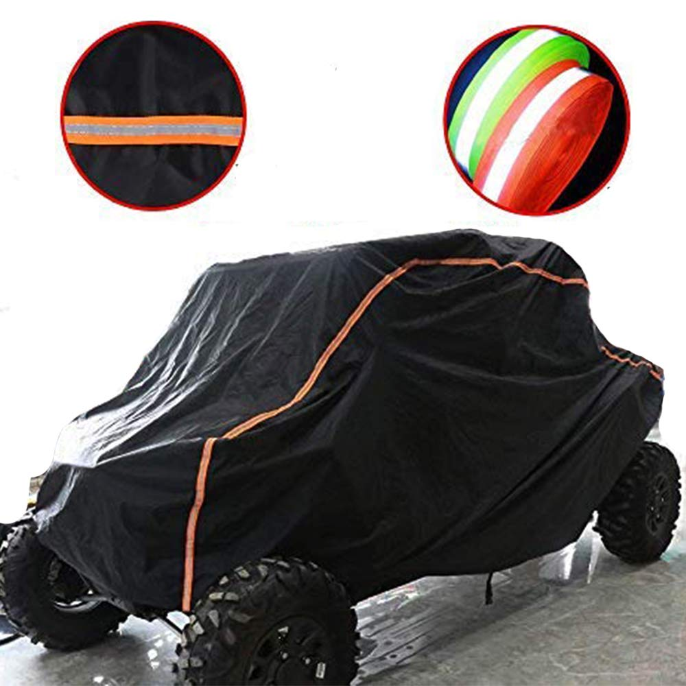 KEMIMOTO UTV Cover RZR Storage Cover Protect Your SxS Vehicle from Rain, Snow, Dirt, Debris and Damaging UV Rays-Reflective Strip for Increased Visibility by kemimoto