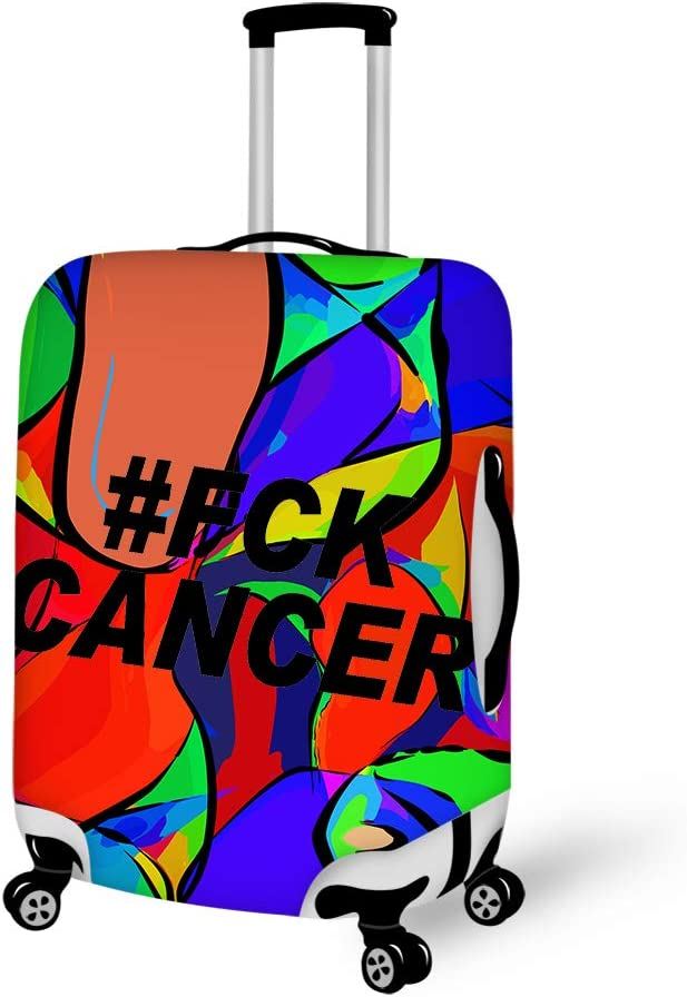 Fck Cancer Travel Luggage Cover Suitcase Protector Fits 22-24 inch Luggage